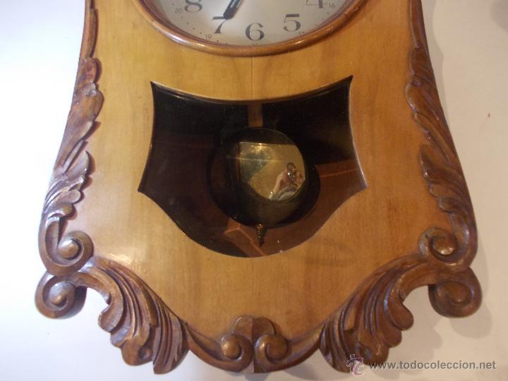 Relojes de pared: ANTIGUO RELOJ DE PARED EN MADERA NOBLE DE PRINCIPIOS DE SIGLO XX - Foto 4 - 50146659