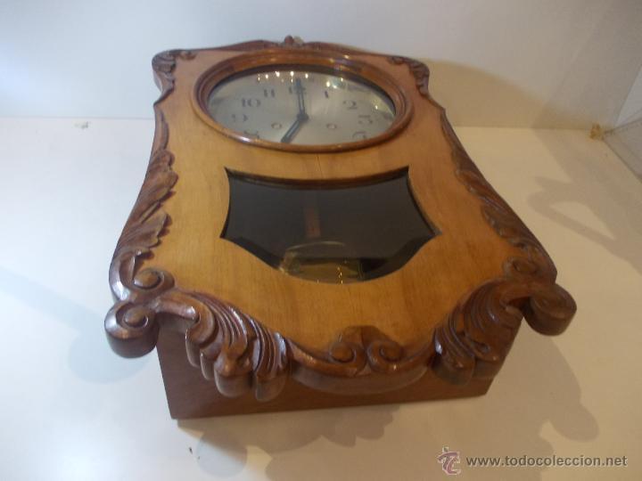 Relojes de pared: ANTIGUO RELOJ DE PARED EN MADERA NOBLE DE PRINCIPIOS DE SIGLO XX - Foto 8 - 50146659
