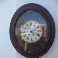 Relojes de pared: RELOJ DE PARED AMERICANO OVALADO. Lote 50165637