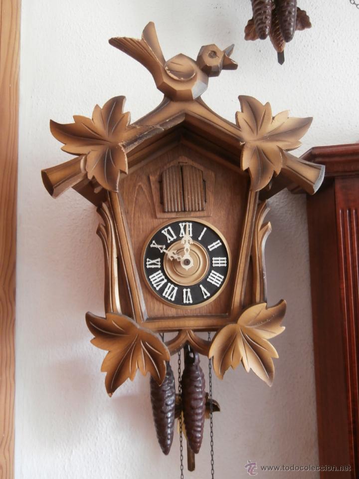 Reloj antiguo de pared alem n cucu cuco p ndulo comprar - Relojes para decorar paredes ...