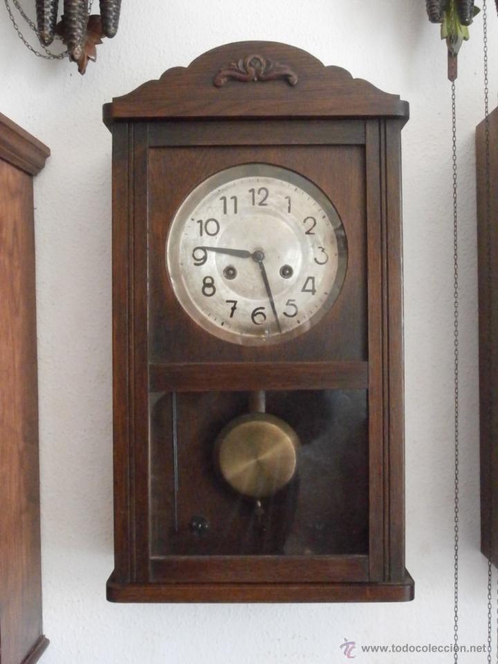 Antiguo reloj de pared alem n de cuerda mec nic comprar - Reloj para pared ...