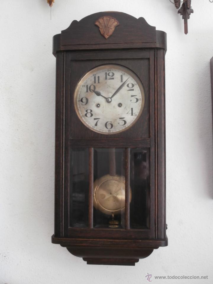 Antiguo reloj cuerda mec nico manual llave anti comprar for Reloj de pared con pendulo