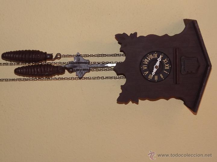 Relojes de pared: RELOJ CUCU HECHO EN GDR,TOTALMENTE MECÁNICO Y FUNCIONAL.ESPECIAL PARA COLECCIONISTAS. - Foto 2 - 51239146