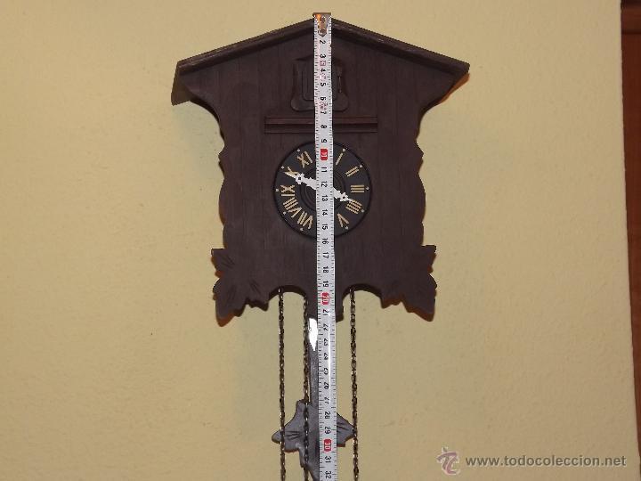 Relojes de pared: RELOJ CUCU HECHO EN GDR,TOTALMENTE MECÁNICO Y FUNCIONAL.ESPECIAL PARA COLECCIONISTAS. - Foto 4 - 51239146