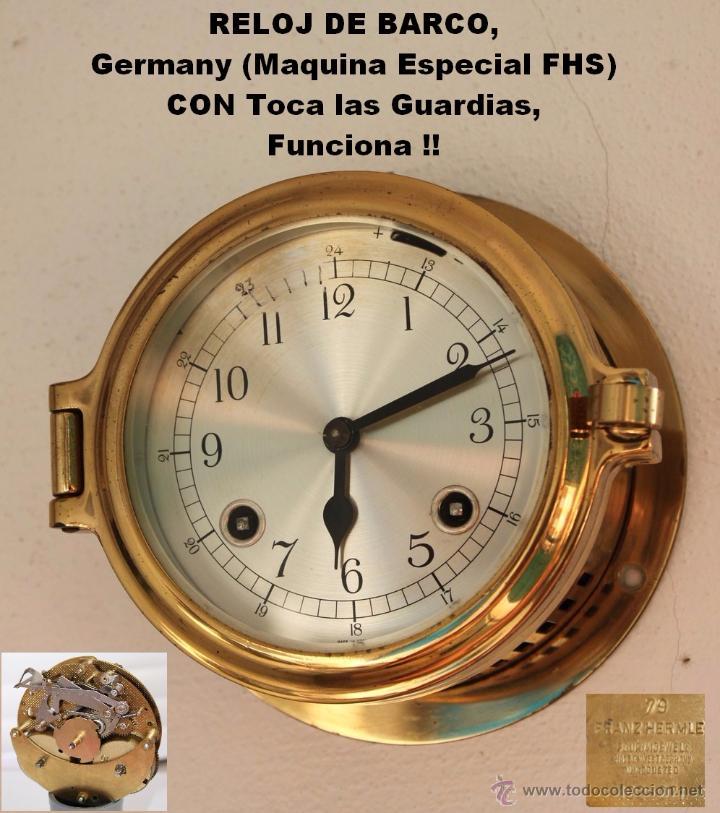 Reloj de barco germany maquina especial fhs comprar relojes antiguos de pared carga manual - Relojes pared antiguos ...
