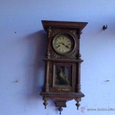 Relojes de pared: MUY ANTIGUO (SOBRE 1900) Y PRECIOSO RELOJ A CUERDAS CON SONERIA .JUNGHANS, CAJA ROBLE MACIZO, FUNCIO. Lote 52138356
