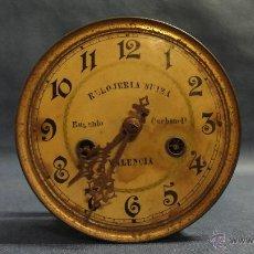 Relojes de pared: MAQUINARIA DE RELOJ DE PARED ANTIGUO MARCA RELOJERIA SUIZA EUGENIO CARBONELL VALENCIA. Lote 52157113