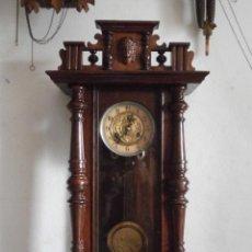 Relojes de pared: ANTIGUO RELOJ DE CUERDA MECÁNICA PARED MILITAR ALEMÁN I GUERRA MUNDIAL 1917 FUNCIONA Y DA CAMPANADAS. Lote 52324754