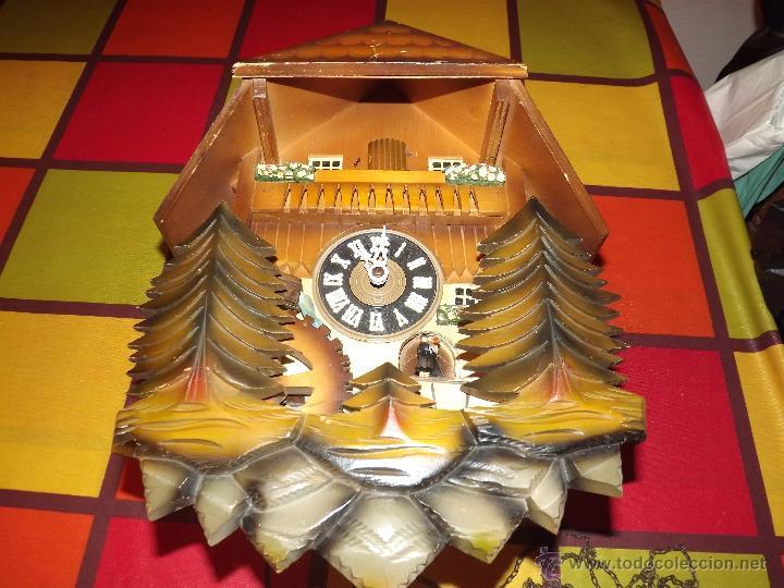 Relojes de pared: RELOJ CUCU-CUCO MUSICAL CON BAILARINES Y RUEDA DE MOLINO MÓVIL. - Foto 8 - 112569743