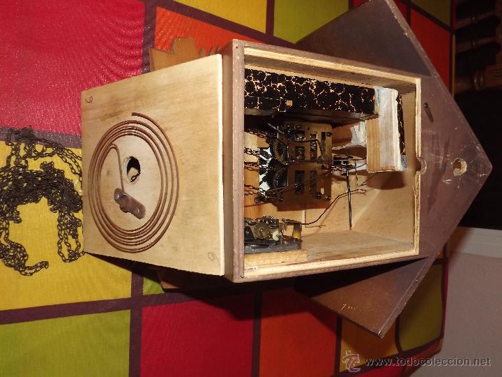 Relojes de pared: RELOJ CUCU-CUCO MUSICAL CON BAILARINES Y RUEDA DE MOLINO MÓVIL. - Foto 10 - 112569743