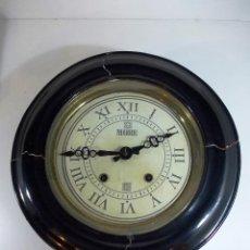 Relojes de pared: ANTIGUO RELOJ CAJA MADERA OJO DE BUEY. Lote 53013963