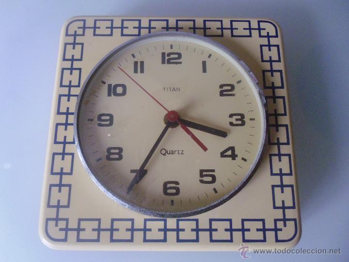 Reloj de pared cocina marca titan a os 70 fu comprar - Reloj de pared para cocina ...