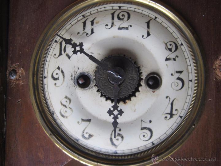 Relojes de pared: RELOJ ANTIGUO EN VITRINA MADERA - Foto 3 - 51253617