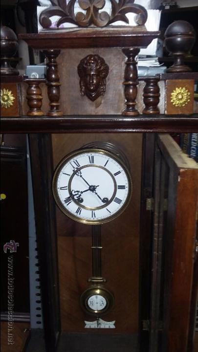 RELOJ DE PARED MÁQUINA PARIS . EN PRECIOSA CAJA Y FUNCIONANDO (Relojes - Pared Carga Manual)