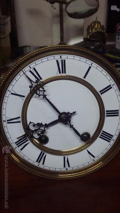 Relojes de pared: RELOJ DE PARED MÁQUINA PARIS . EN PRECIOSA CAJA Y FUNCIONANDO - Foto 9 - 53587298