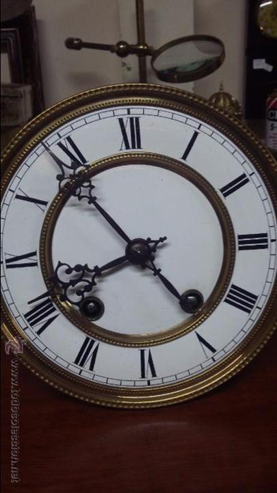 Relojes de pared: RELOJ DE PARED MÁQUINA PARIS . EN PRECIOSA CAJA Y FUNCIONANDO - Foto 10 - 53587298
