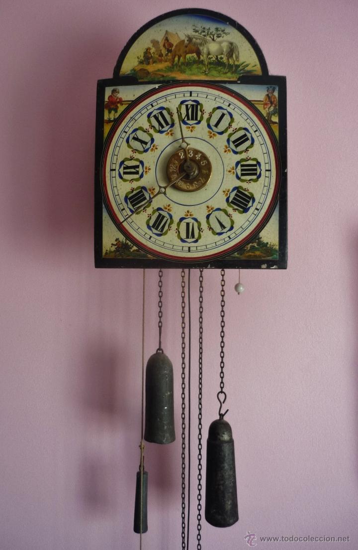 Reloj de la selva negra o ratera comprar relojes antiguos de pared carga manual en - Relojes pared antiguos ...