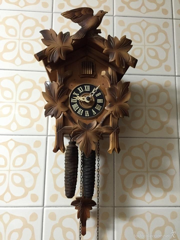 Reloj cuco de madera comprar relojes antiguos de pared carga manual en todocoleccion 53961001 - Relojes pared antiguos ...