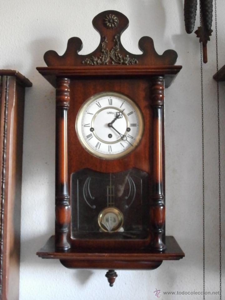 Reloj antiguo aleman de pared con soneria campa comprar relojes antiguos de pared carga manual - Relojes pared antiguos ...
