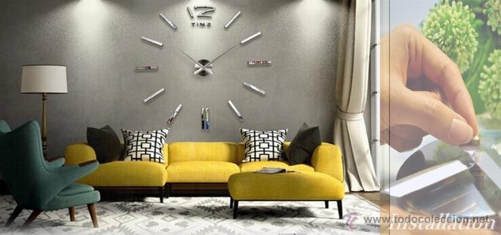 Reloj de pared gigante 3 dimensiones comprar relojes - Reloj gigante pared ...