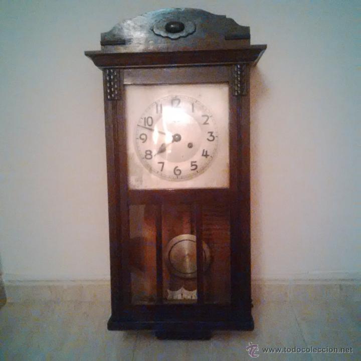 Antiguo reloj de pared a cuerda con p ndulo comprar - Comprar mecanismo reloj pared ...