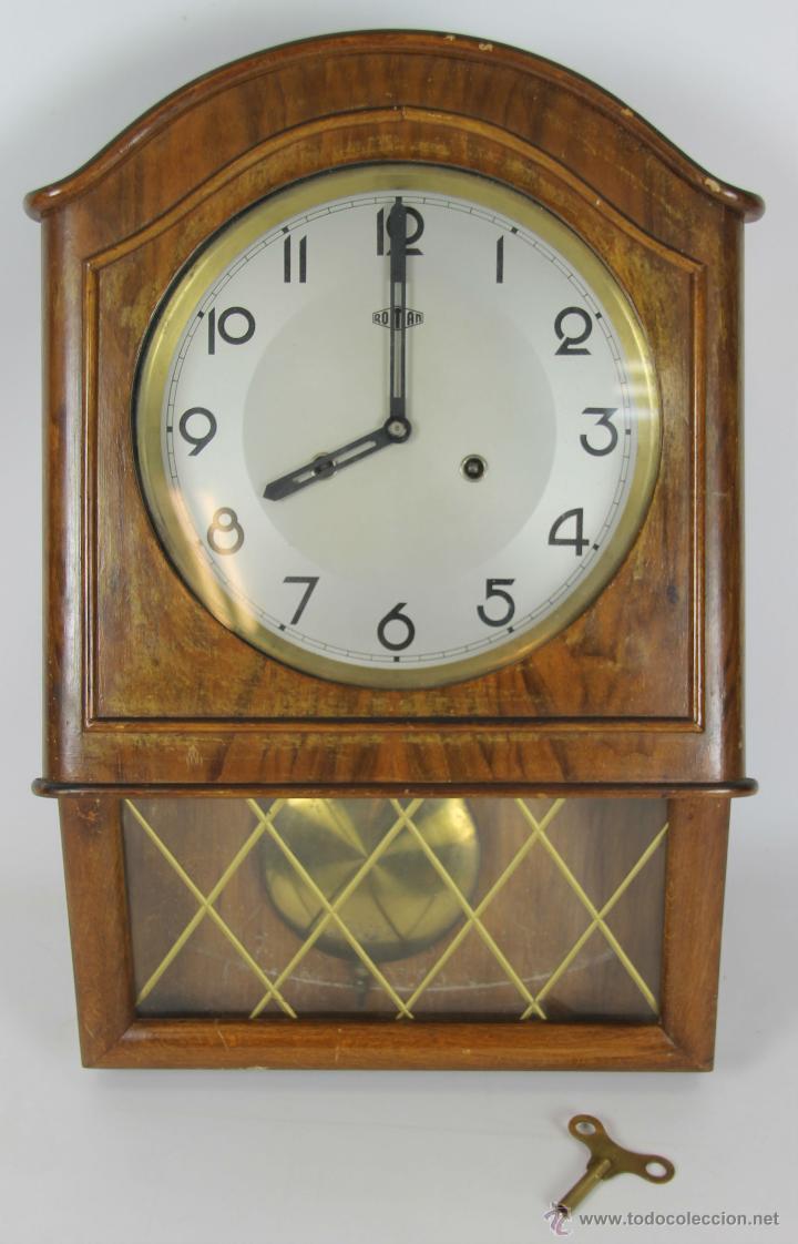 Reloj de pared en madera marca roman a os 20 comprar - Relojes para decorar paredes ...