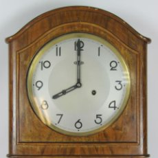 Relojes de pared: RELOJ DE PARED EN MADERA. MARCA ROMAN. AÑOS 20-30. Lote 51116849