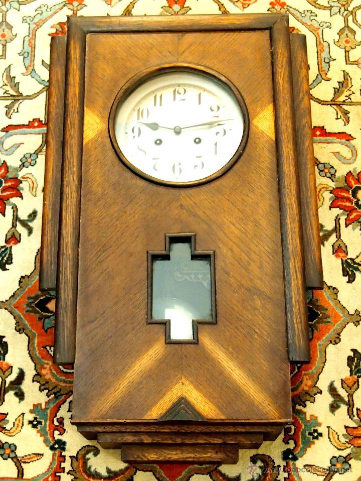 RELOJ DE PARED. GONG AIDA. CAJA ORIGINAL. METAL. MADERA. ESPAÑA. CIRCA 1930. (Relojes - Pared Carga Manual)