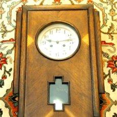 Relojes de pared: RELOJ DE PARED. GONG AIDA. CAJA ORIGINAL. METAL. MADERA. ESPAÑA. CIRCA 1930.. Lote 48903660