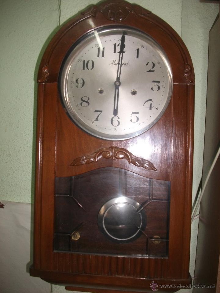 Antiguo reloj de pared monreal fabricado en e comprar relojes antiguos de pared carga manual - Relojes pared antiguos ...