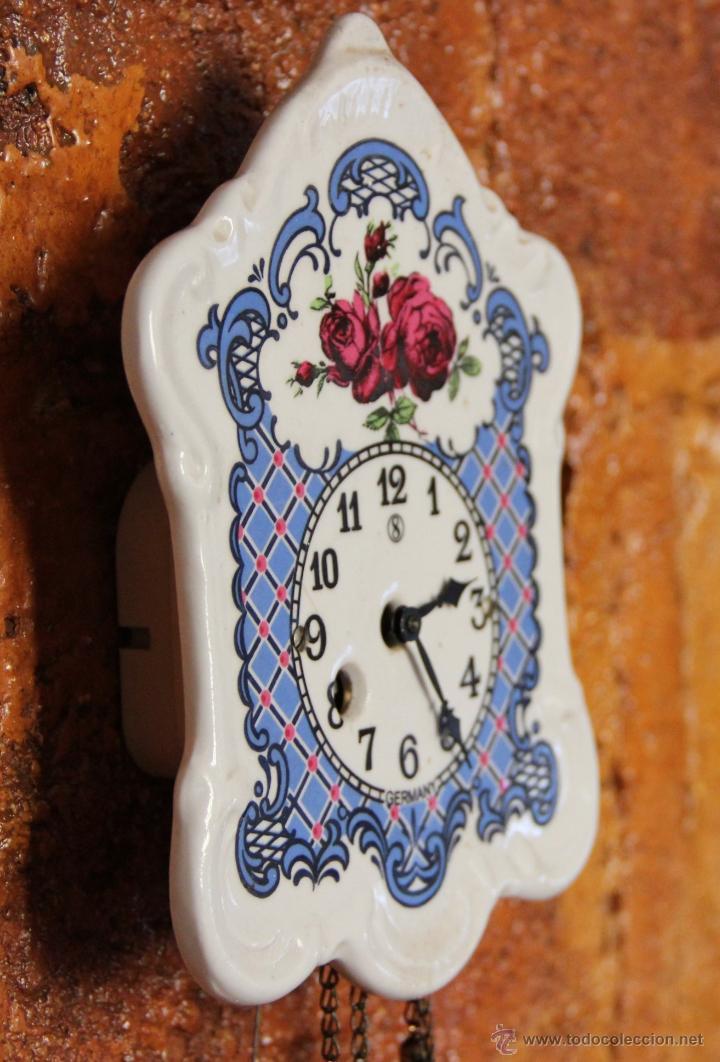 Relojes de pared: PEQUEÑO RELOJ DE PORCELANA ALEMAN - Foto 3 - 55035266