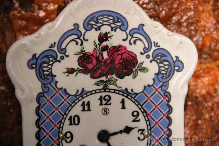 Relojes de pared: PEQUEÑO RELOJ DE PORCELANA ALEMAN - Foto 5 - 55035266
