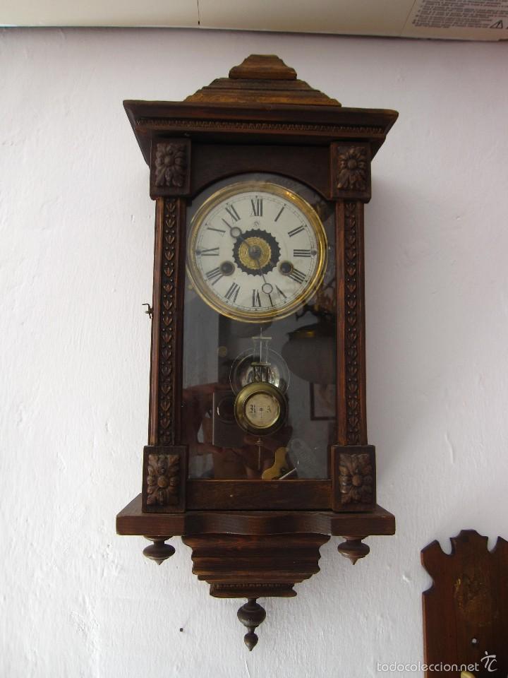 Antiguo reloj pared con mas de 100 a os de anti comprar relojes antiguos de pared carga manual - Relojes pared antiguos ...