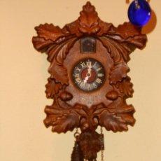 Relojes de pared: RARO RELOJ CUCU HECHO EN GDR,TOTALMENTE MECÁNICO Y FUNCIONAL.. Lote 177422257