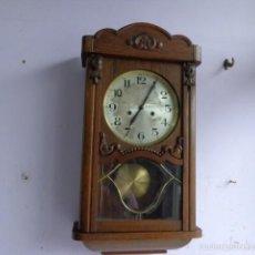 Relojes de pared: MUY ANTIGUO (SOBRE 1900), PRECIOSO E IMPORTANTE RELOJ A CUERDAS CON SONERIA DE HORAS Y MEDIAS, FUNCI. Lote 55817210