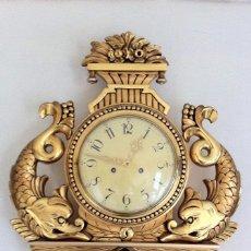 Relojes de pared: ANTIGUO RELOJ DE PARED CARGA MANUAL. Lote 51713501