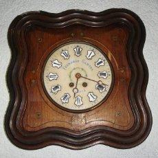 Relojes de pared: ANTIGUO RELOJ DE PARED. S.XIX. RELOJERO FERNANDO GANTER - MADRID. FUNCIONA.. Lote 56127583
