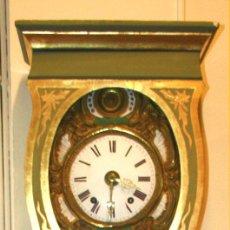 Relojes de pared: GRAN RELOJ DE PARED. CAJA Y ORNAMENTACIÓN CATALANAS . MAQUINARIA FRANCESA. XIX.. Lote 56151154