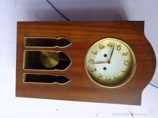 Relojes de pared: MUY ANTIGUO (PRINCIPIOS 1900) Y BONITO RELOJ A CUERDAS Y SONERIA DE HORAS Y MEDIAS FUNCIONANDO - Foto 2 - 56250863