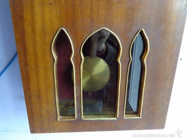 Relojes de pared: MUY ANTIGUO (PRINCIPIOS 1900) Y BONITO RELOJ A CUERDAS Y SONERIA DE HORAS Y MEDIAS FUNCIONANDO - Foto 3 - 56250863