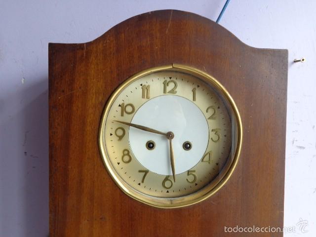 Relojes de pared: MUY ANTIGUO (PRINCIPIOS 1900) Y BONITO RELOJ A CUERDAS Y SONERIA DE HORAS Y MEDIAS FUNCIONANDO - Foto 4 - 56250863
