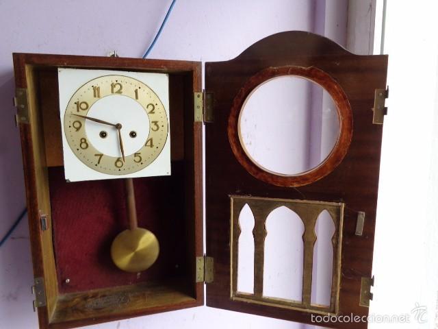 Relojes de pared: MUY ANTIGUO (PRINCIPIOS 1900) Y BONITO RELOJ A CUERDAS Y SONERIA DE HORAS Y MEDIAS FUNCIONANDO - Foto 5 - 56250863