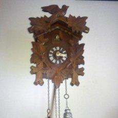 Relojes de pared: ANTIGUI RELOJ PARA COLECION DO CUCU HECHO DE MADERA DOS ANOS 50,60. Lote 56174431