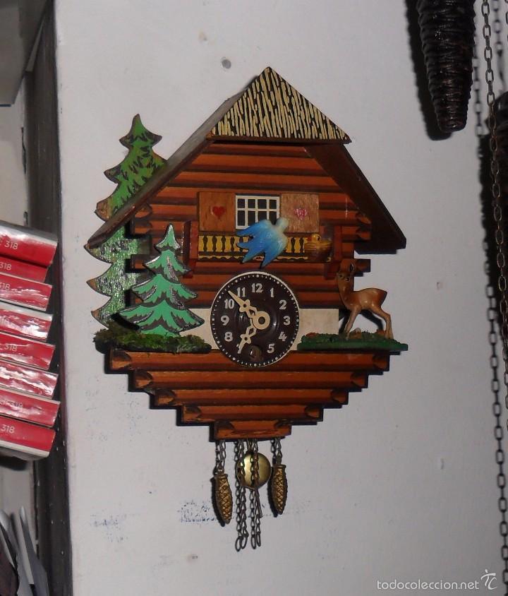 Relojes de pared: Reloj de cuco mecánico - Foto 2 - 56289124