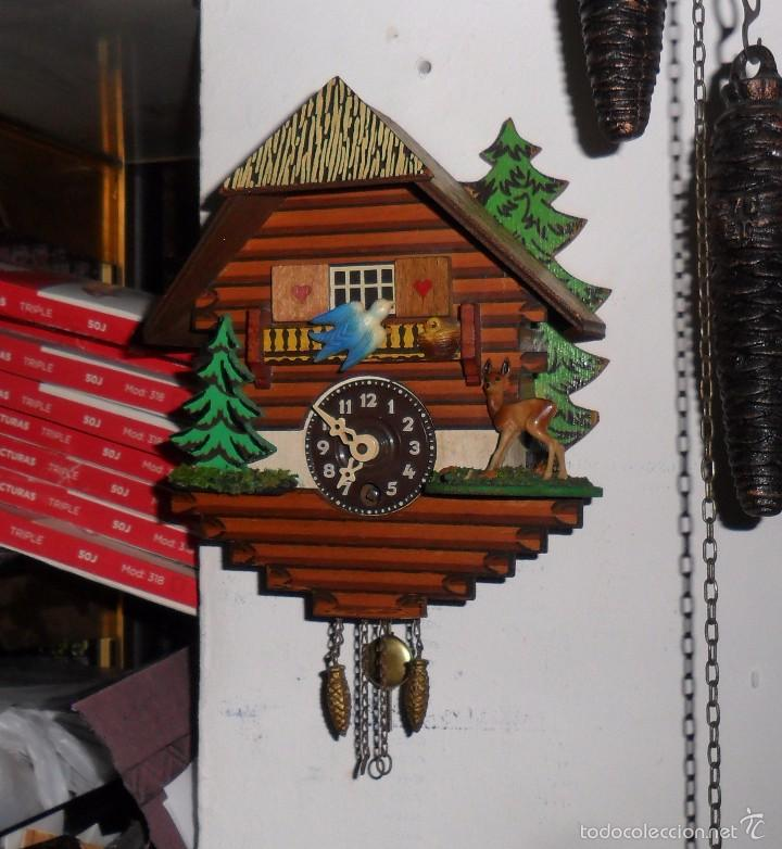 Relojes de pared: Reloj de cuco mecánico - Foto 3 - 56289124