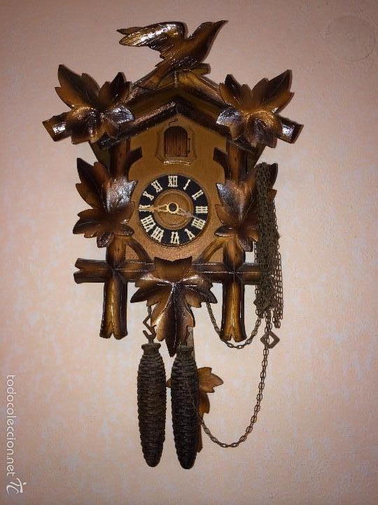 RELOJ ANTIGUO PARED CUCU-CUCO SELVA NEGRA ALEMANA -P5 (Relojes - Pared Carga Manual)