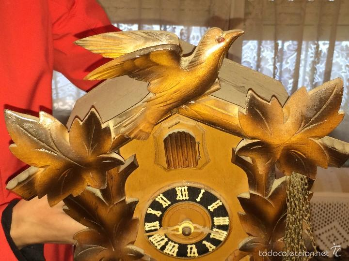 Relojes de pared: RELOJ ANTIGUO PARED CUCU-CUCO SELVA NEGRA ALEMANA -P5 - Foto 5 - 107446826