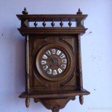 Relojes de pared: MUY ANTIGUO (SOBRE 1880) E IMPORTANTE RELOJ A CUERDAS SONERIA DE HORAS Y MEDIAS, FUNCIONANDO. Lote 56498447