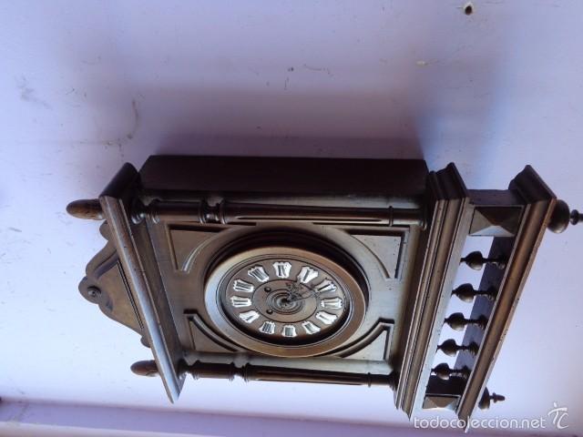 Relojes de pared: MUY ANTIGUO (SOBRE 1880) E IMPORTANTE RELOJ A CUERDAS SONERIA DE HORAS Y MEDIAS, FUNCIONANDO - Foto 4 - 56498447