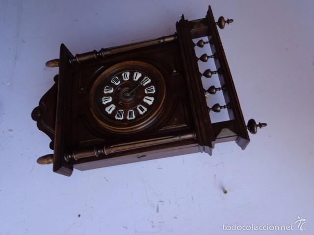 Relojes de pared: MUY ANTIGUO (SOBRE 1880) E IMPORTANTE RELOJ A CUERDAS SONERIA DE HORAS Y MEDIAS, FUNCIONANDO - Foto 5 - 56498447